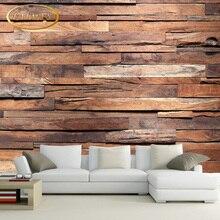 Custom 3D photo wallpaper Dark stone brick wall wallpaper retro nostalgia wallpaper for living room Lounge mural papel de parede