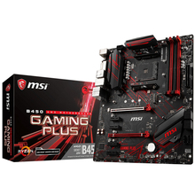 Новая оригинальная материнская плата MSI B450 GAMING PLUS с разъемом AM4 DDR4 USB2.0 USB3.1 DVI HDMI 64 Гб B450 настольная материнская плата