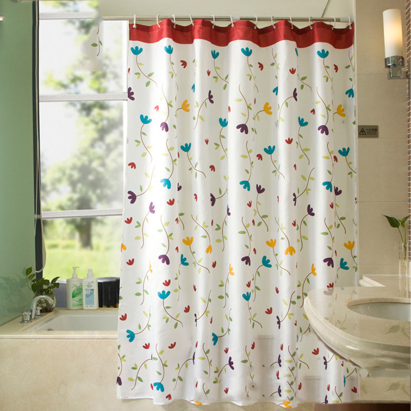 200*200cm High-grade Country style Shower Curtain Waterproof Mildewproof Polyester Fabric for Home Hotel Bathroom Decoration 7Z
