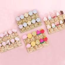 10 Pcs/set Colored Wooden Clip Christmas Decor Cute Cartoon Memo Paper Clips Hemp Ropes Diy Photo Wall Small Clothespin