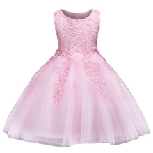 Baby Girls Flower Bowknot Wedding, Birhthday Party Gown