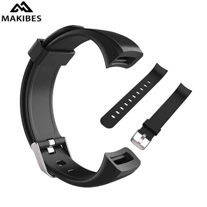 In Stock 2018 New Smart Bracelet Replacement Silicon Watch adjustable Bracelet Strap Band For Makibes HR3 Smart Bracelet