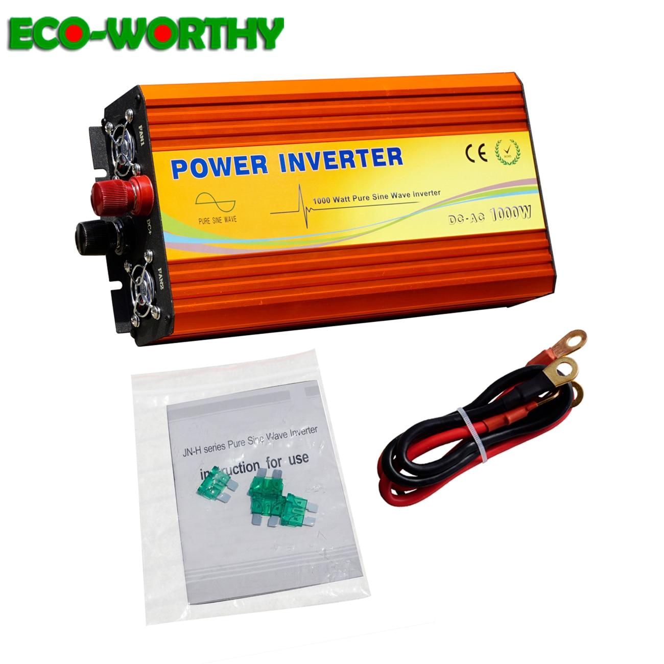 ECO-WORTHY 3KW 3000W 12V DC to 220V Pure Sine Wave Off Grid Inverter Converter for RV Boat