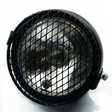 цена на Grill Retro Motorcycle Side Mount Headlight Lamp For Harley Honda Kawasaki Suzuki Yamaha Thriumph Cafe Racer Bobber CG GN CB VT