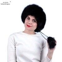 Linhaoshengyue women fox fur Princess Hat Noble fashion and warmth