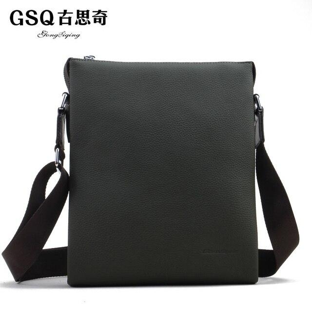 Gsq autumn new arrival man bag casual elegant cowhide male shoulder bag messenger bag