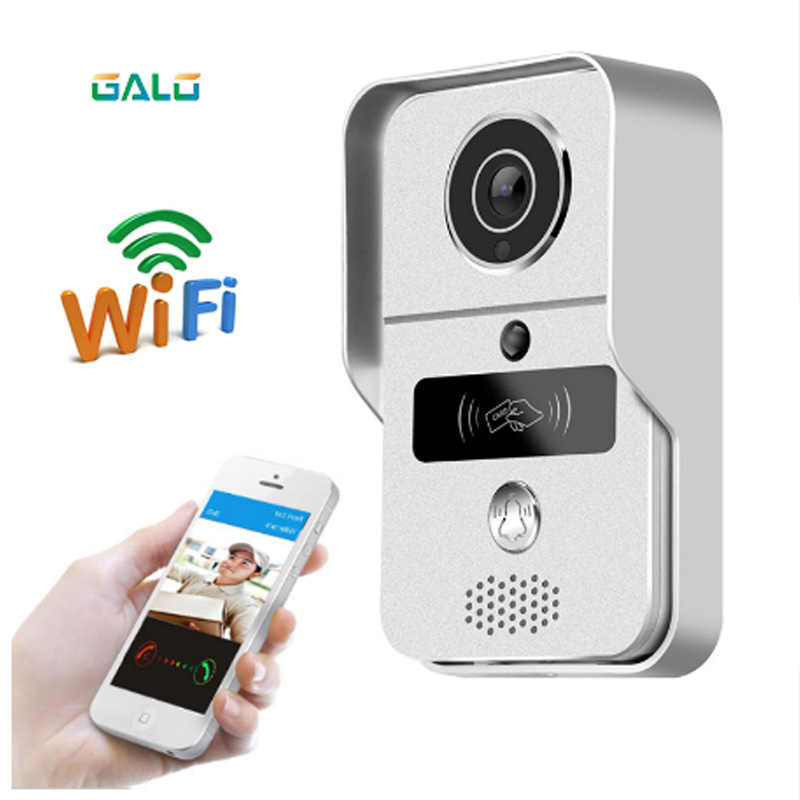 GALO Wireless SD Card Video Doorbell + RFID Keychain + Indoor Doorbell Wifi IP Doorbell POE Camera For ONVIF Connect NVR