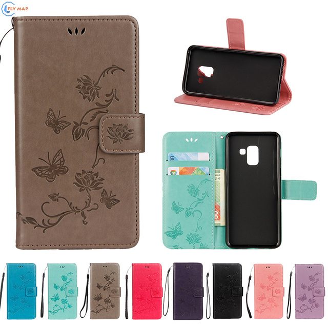 sale retailer f02cc e39d7 US $4.46 5% OFF|Flip Case For Samsung Galaxy A6+(2018) A605G SM A605G  Mobile Phone Leather Cover For Samsung A6 Plus 2018 A 605G Silicone Capa-in  Flip ...