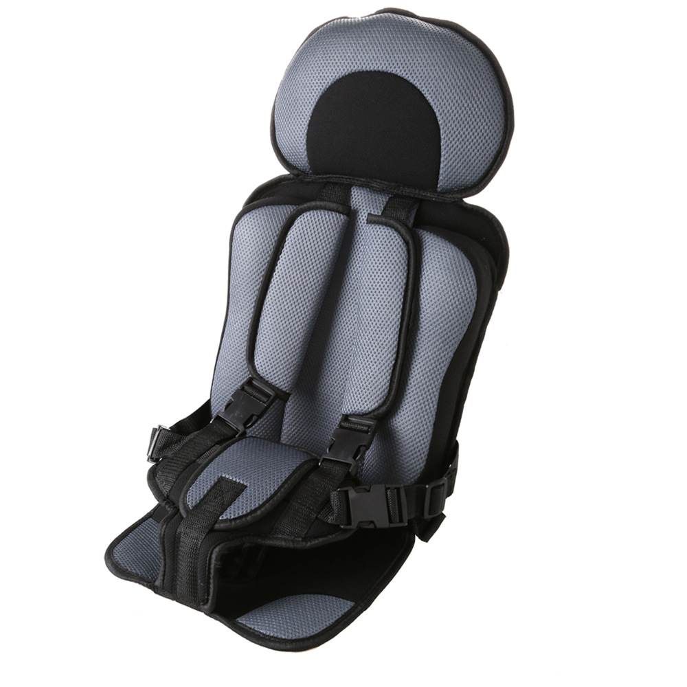 1 Pcs Portable Baby Safety Car Seat Updated Version Thickening Children Cotton Car Infant Safe Seat Suit For 0-9 Years Children