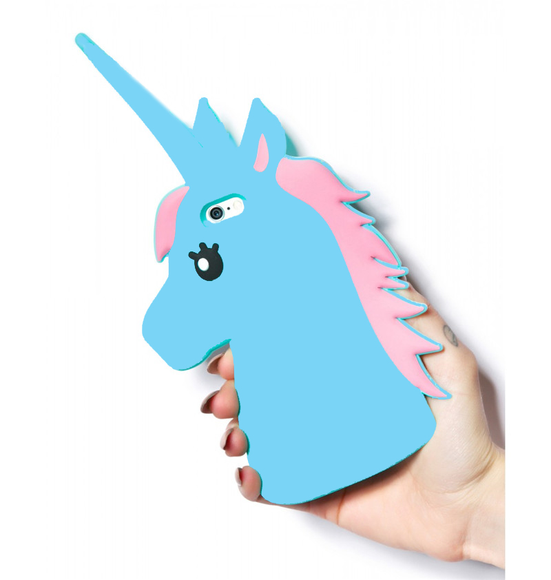 Galleria fotografica YRFF Cute 3D Cartoon Unicorn Littlt Horse Silicon cover for Samsung Galaxy s6 s5 s4 j1 j7 note 3 note 4 soft Phone Case cover
