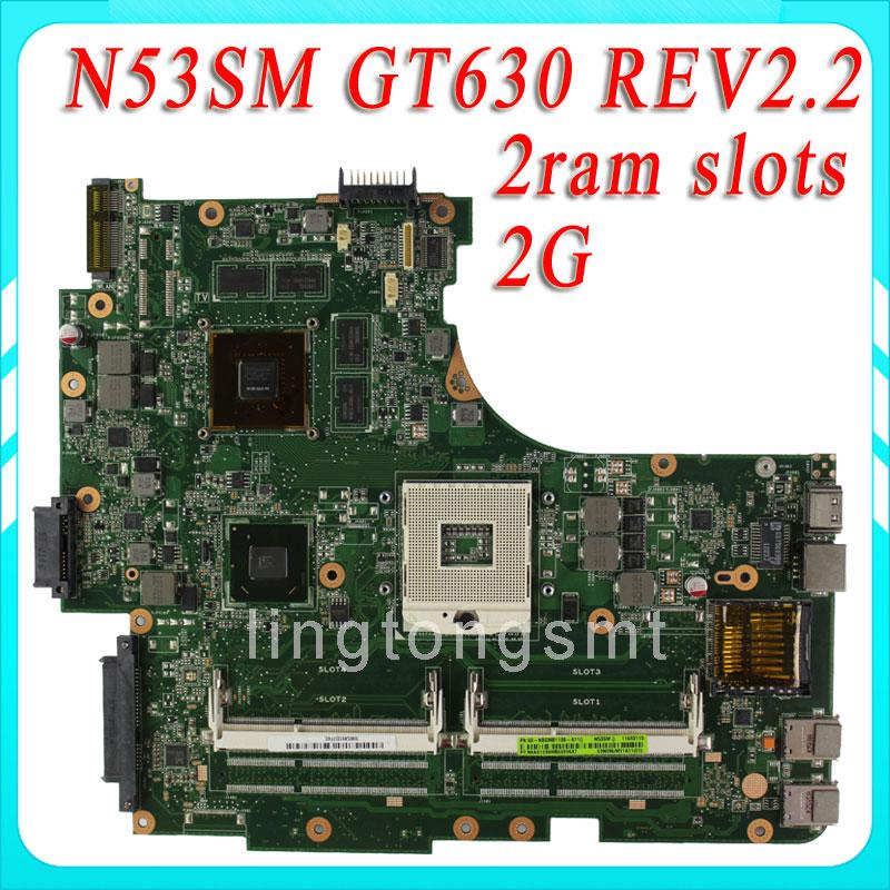N53SV N53SN N53SM motherboard for ASUS N53SV REV2.2 Mainboard GT630 2G 2 RAM Solts tested ok