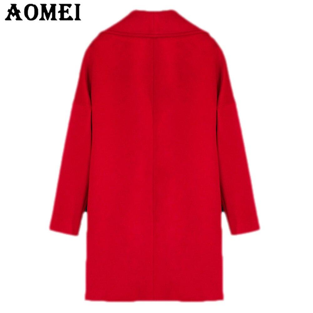 Manches Casual Femmes Cape Rouge Automne Vêtements Longues Laine Manteau Survêtement Arrivée Pour Red Dames De D'hiver Bureau Tops Travail Nouvelle qwrSXtwO
