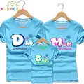 New 2017 Family Matching T Shirt Brand Family Clothes Cotton T Shirts Father Son Suits Mother Daughter Matching Clothing F006