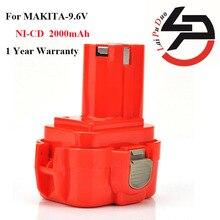Laipuduo 2000 мАч 9.6 В 2.0Ah ni-cd Power Tools Аккумулятор для Makita 9120, 9122, 9133, 9134, 9135, 9135A, 6222D, 6260D