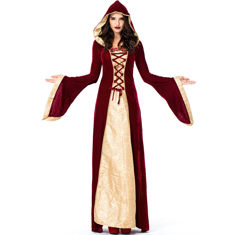 Umorden Purim Halloween Carnival Costumes for Women Medieval Dress Robe Renaissance Maiden Dresses Lady of Thrones Costume