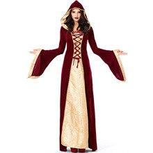 Umorden Purim Halloween Carnival Costumes for Women Medieval Dress Robe Renaissance Maiden Dresses Lady of Thrones Costume