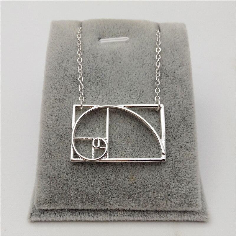 Elfin New Science Jewelry Fibonacci Necklace Silver Golden Ratio Necklace Wearable Mathematics - Phi - irrational Jewelry