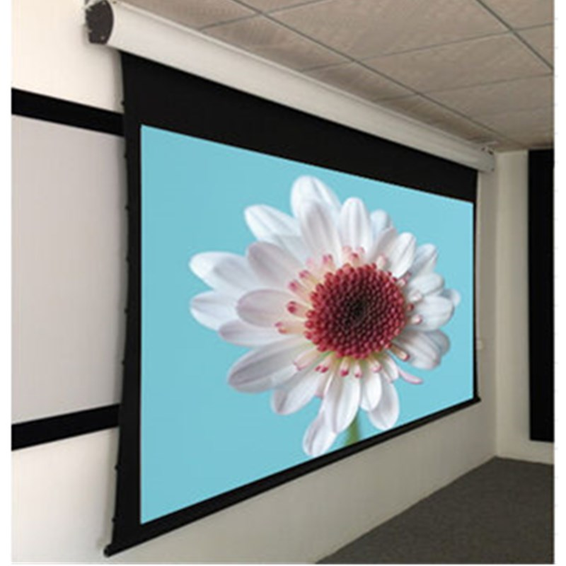16:9 Acoustic Tab-tension Motorized Screen /cinema projection screen with 12V Trigger luxury motorized electric tab tension 139inch 16 10 matte white home theater high quality cinema projector screen