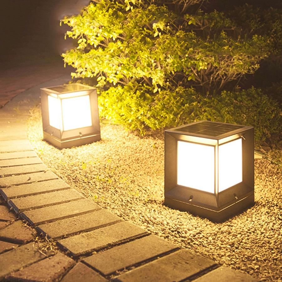 Thrisdar extérieur jardin solaire pilier pelouse lampe étanche porte avant porte stigmate lampe paysage Villa clôture pilier lumière