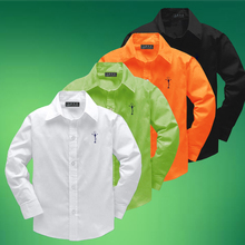 Children In The Spring And Autumn Pure Cotton Shirt Boy's Shirts Casual Children's Clothing 2017 Fashion Long Sleeved Baby Shirt