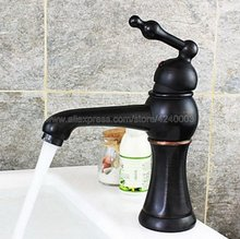 Oil Rubbed Bronze Black Brass Single Handle Bathroom Sink Vessel Faucet Basin Mixer Tap Knf280 все цены