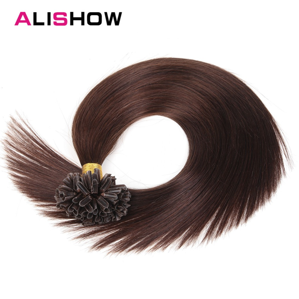 Alishow Hair 1g/s Remy Pre Bonded Human Hair Extension Straight 16