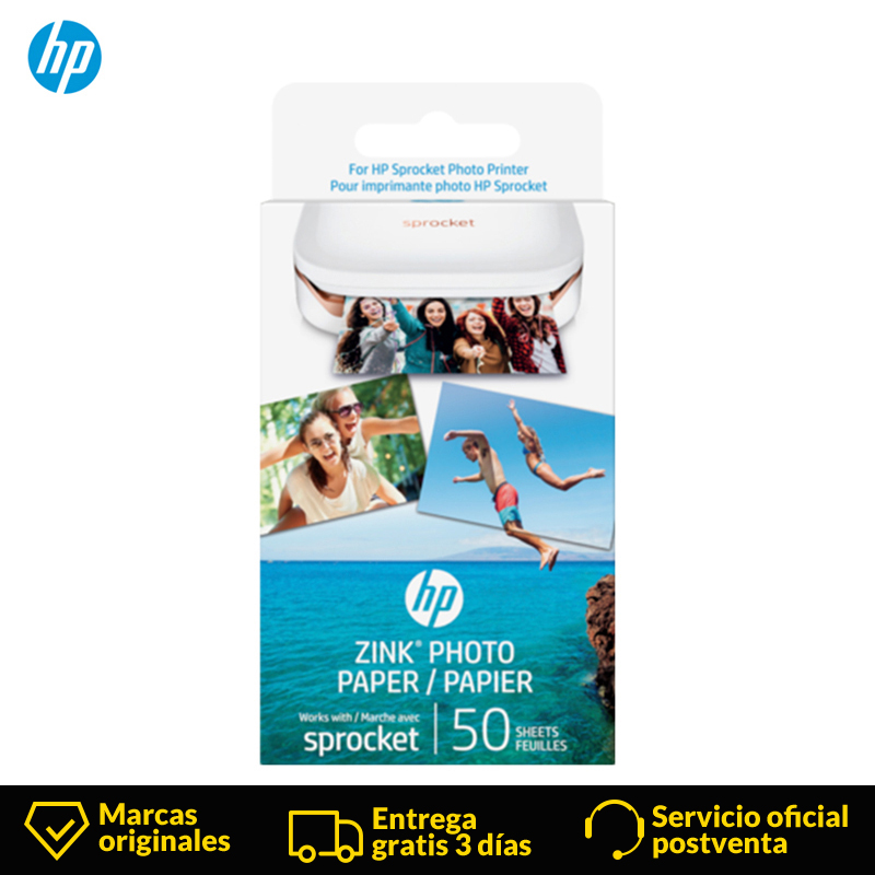 HP Sprocket Sublimation Photo Photographic Paper Pocket Photo Printer Zink Paste Photo Paper Tape Adhesive For HP Bluetooth