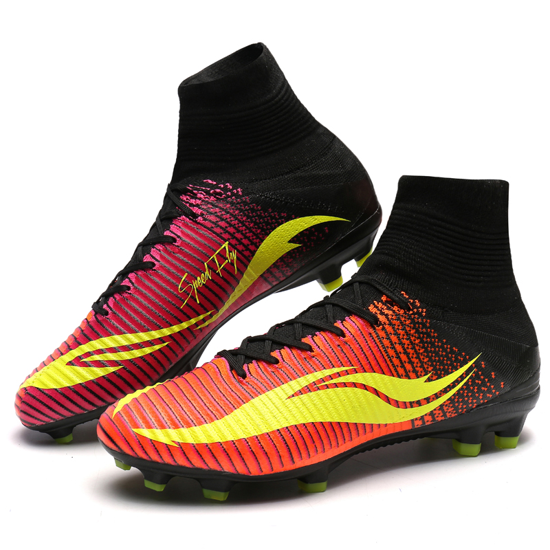 0401b0549ac34 Homens Superfly Chuteiras FG Alta Tornozelo Botas Miúdos Do Futebol Preto  Volt Profissional Chuteiras Sneakers Tamanho 35 46 em Sapatos de futebol de  Sports ...