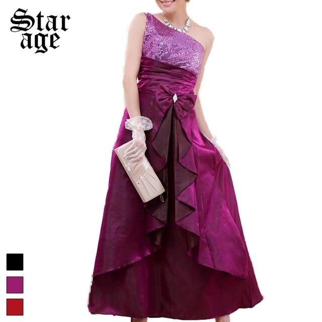 Ml Xxxl Luxury Sequins Long Formal Dress Plus Size One Shoulder