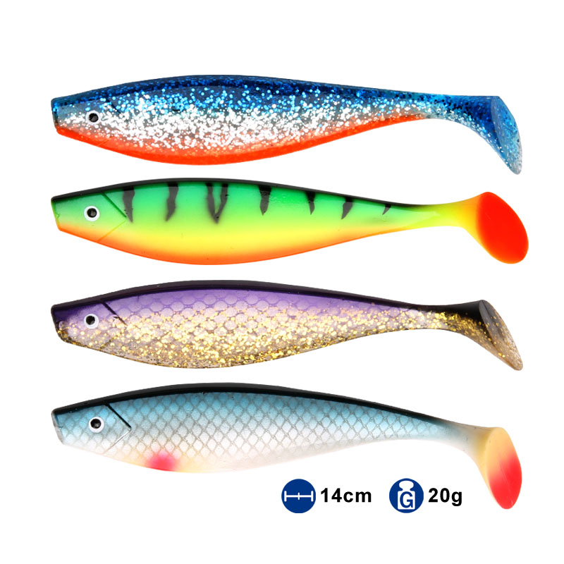 soft fishing <font><b>lure</b></font> pro shad <font><b>lure</b></font> berserk <font><b>140mm</b></font> 20g 2pcs sea fishing saltwater bass fishing decoy for fishing pike image