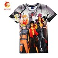 2017 Summer Naruto 3D T Shirt Summer Tops Cartoon Tee Anime T-shirt 3d Fashion Hipster Tee Shirt Homme Brand Clothing Plus Size