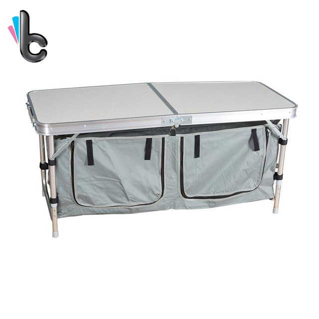Portable Camping Table Aluminum Folding Indoor Outdoor Picnic Camping Table  With Storage Bag