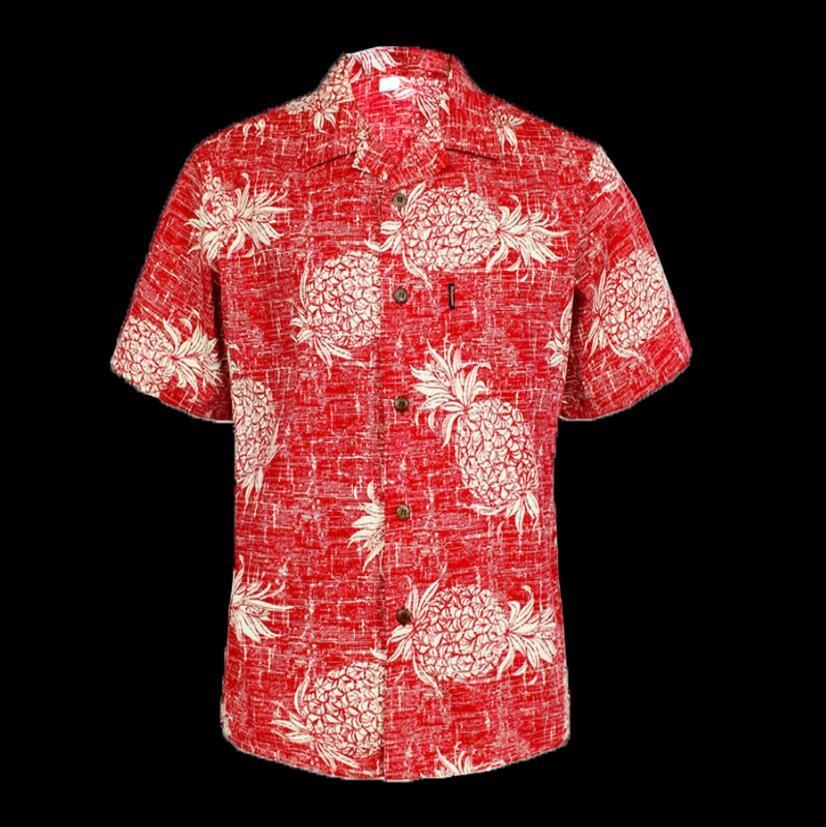 e57a4021 Bob Dong Mens Vintage Hawaiian Aloha Pineapple Floral Print Shirt Hawaii  Short Sleeve Beach Party Cruise ...