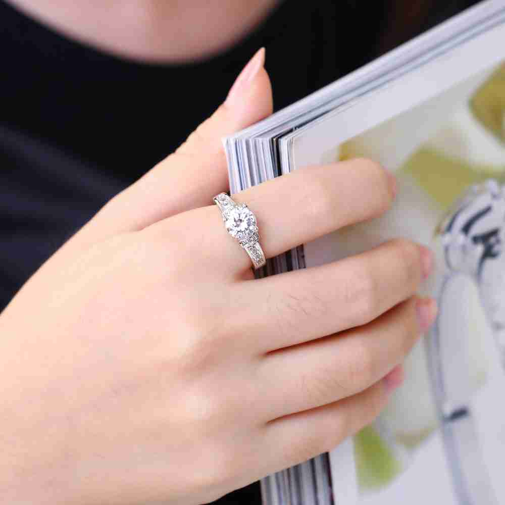 Kiteal 7mm AAA Zircon wedding Rings for women Jewelry silver color ...