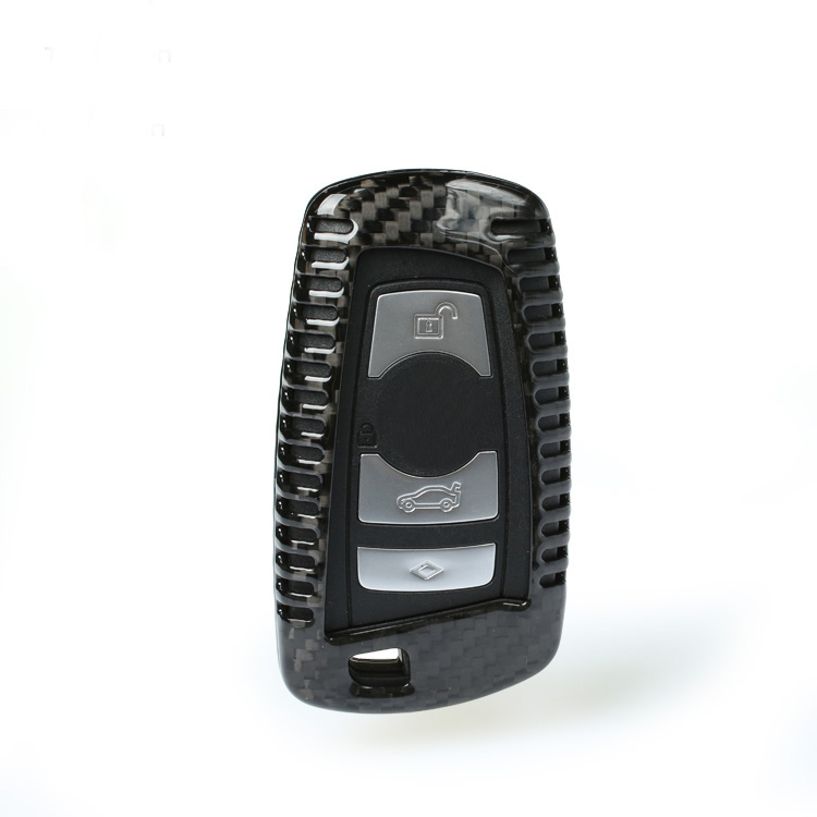 Carbon Fiber Car Remote Key Case Cover For BMW E46 E39 E90 E36 E60 F30 F10