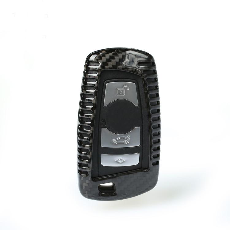 Carbon Fiber Car Remote Key Case Cover For BMW E46 E39 E90 E36 E60 F30 F10