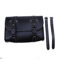 Backpack Bags Universal Motorcycle Saddle PU Leather Bag Storage Tool Pouch For Harley Cruiser Touring Bicycle Saddlebag Black