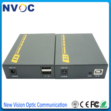 4K HDMI الألياف البصرية USB KVM موسع عبر الألياف 3D 4K * 2K HDMI TX/RX فيديو TransmitterFiber البصرية محول صوت مع RS232
