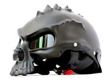 Hot Punk Skull Motorcycle Helmet Half Face Helmet Motorbike Capacetes Casco Retro Casque CG489