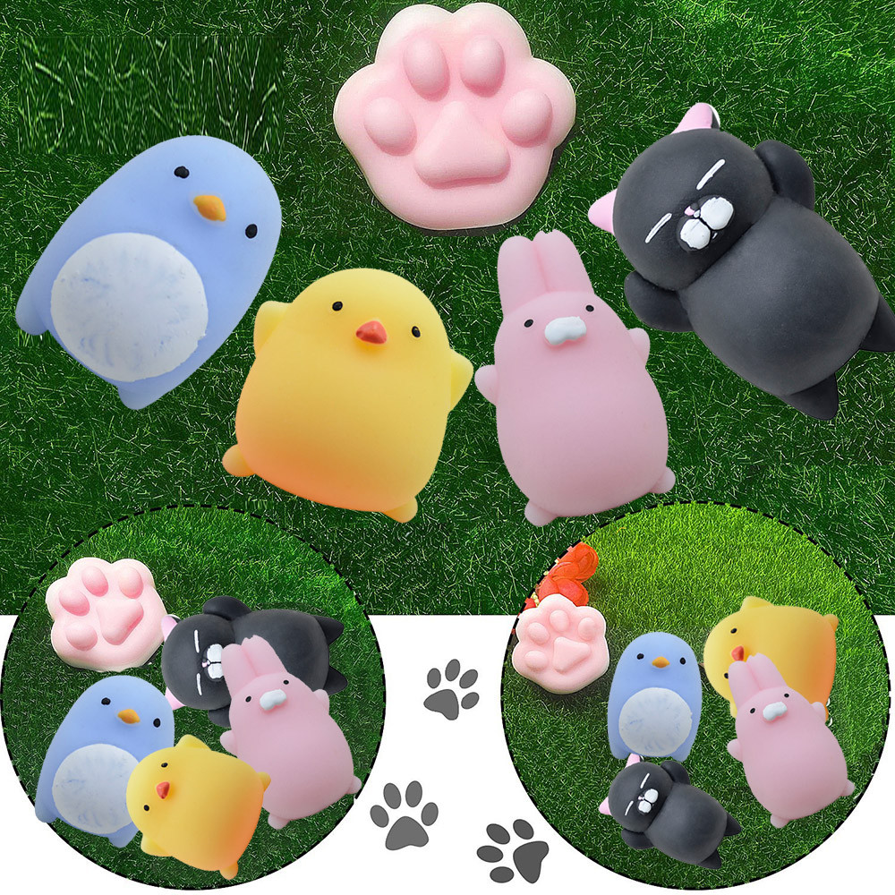 Cute Carton Squeeze Toy Squishy Cat Squeeze Healing Fun Kids Kawaii Toy Stress Reliever Decor Squishes Slow Rising Toys A1