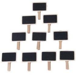 10 Stücke Mini Clip Auf Tafel Worte Nachricht tafel Decor Holz Tafel Geformten Clip Für Hochzeit