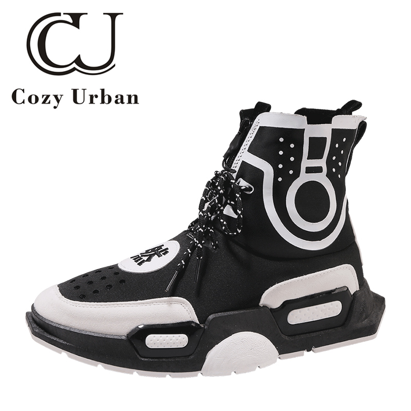 Cozy Urban hip pop fashion mens casual shoes trainers men autumn winter sneakers boots chaussures de toile homme 2018 все цены