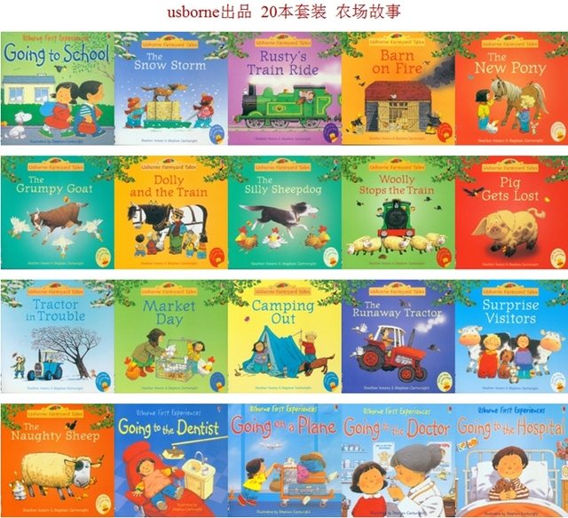 20pcs/set 15x15cm Best Picture Books For Children And Baby Famous Story English Tales Series Of Child Book