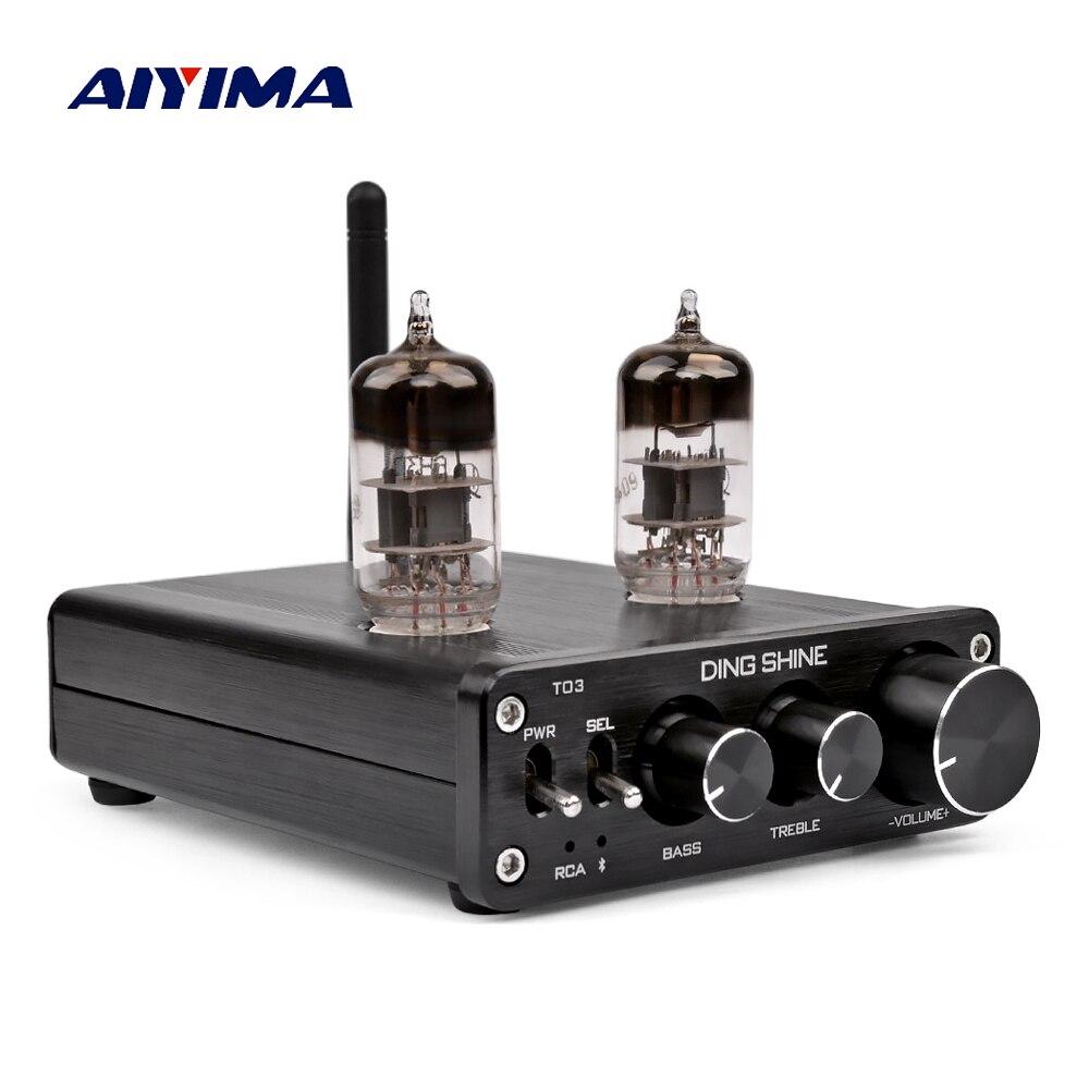 AIYIMA Bluetooth 4.0 6N3 Tube à vide préamplificateur récepteur HIFI Bile pré amplificateur carte Audio DC12V bricolage pour Home cinéma