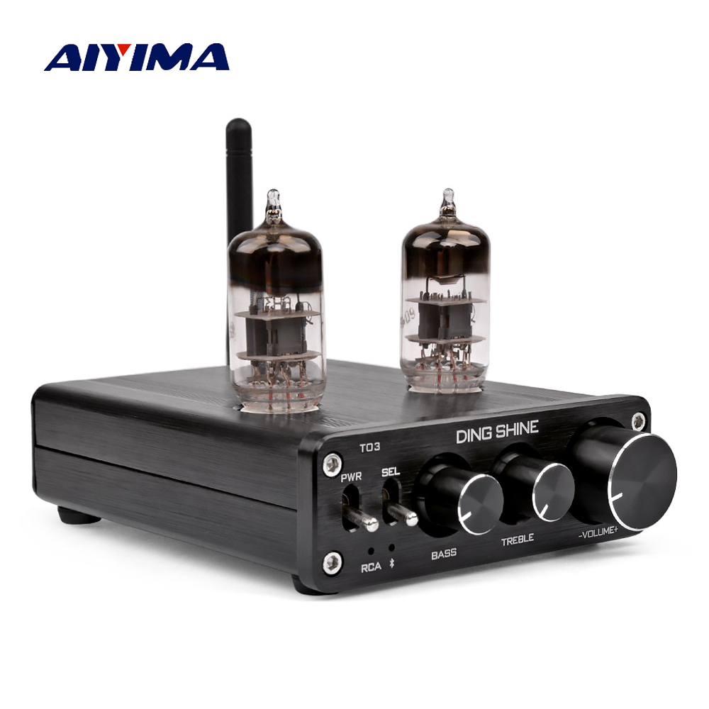 AIYIMA <font><b>Bluetooth</b></font> <font><b>4.0</b></font> 6N3 Vacuum Tube Preamplifier Receiver <font><b>HIFI</b></font> Bile Pre Amplifier Audio Board DC12V DIY For Home Theater image