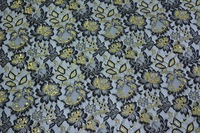5 Yards Women Lace Cotton Polyester Chantilly Gold Lace Fabric Trim