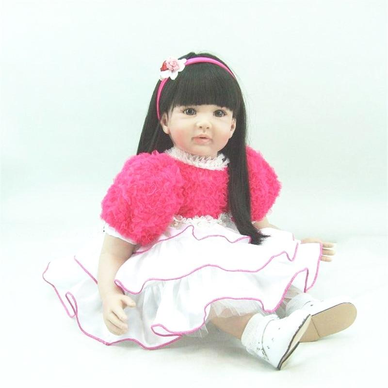 22 inch 55 cm baby reborn Silicone dolls, lifelike doll reborn babies toys Beautiful girls holiday gift