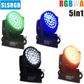 4 шт./лот RGBWA 5в1 36x15w увеличение луча Led Moving Head Wash для дискотеки  шоу сцены  вечеринки LED Wash Zoom Moving Head Light