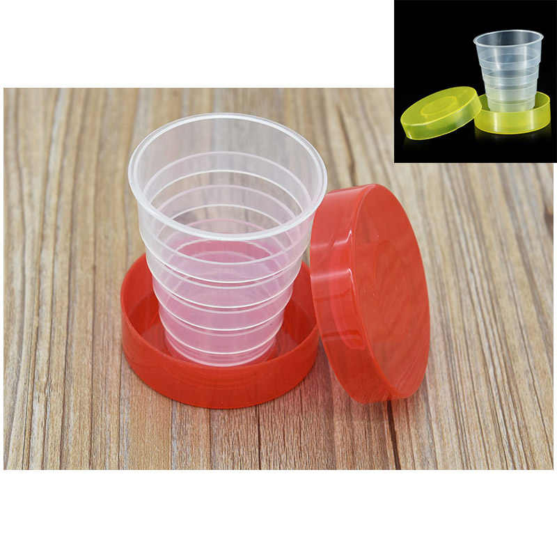 2018 New Portable Folding Collapsible Retractable Food-Grade PP Travel Cup Mug Random Color