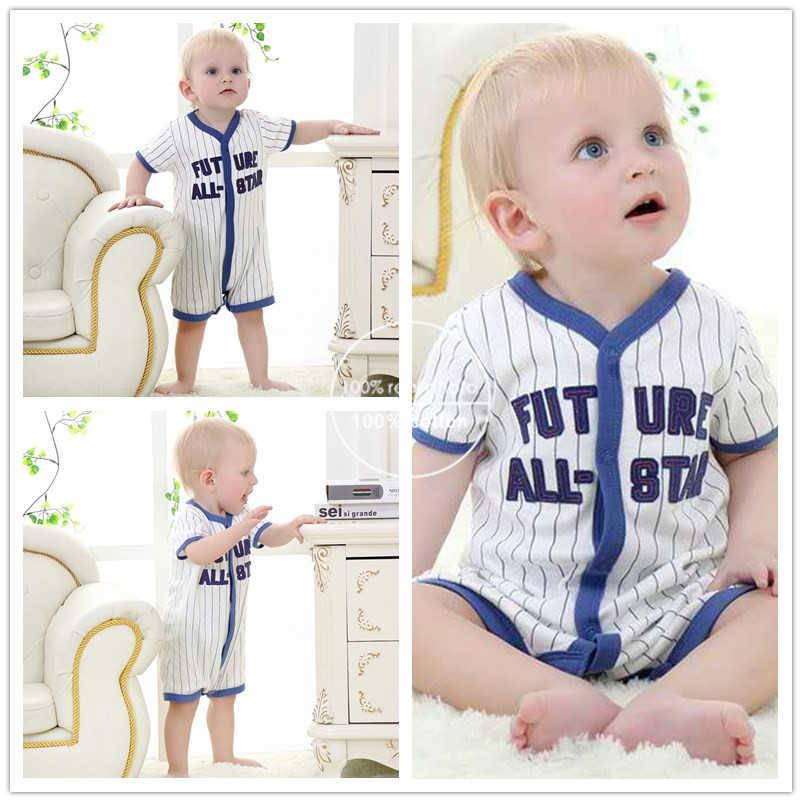 2020 nouveau bébé bébé garçons vêtements dessin animé Animal à manches courtes barboteuses nouveau-né bébé coton vêtements enfant en bas âge garçons Roupas pyjamas
